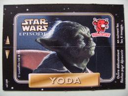 """Carte Publicitaire La Vache Qui Rit - STAR WARS - Episode 1 """"YODA"""" 4 Images Lucasfilm   A Voir ! - Other Collections"""