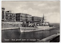NAVI MILITARI - CACCIATORPEDINIERE - TARANTO - PONTE GIREVOLE APERTO CON PASSAGGIO NAVI - 1964 - Guerra