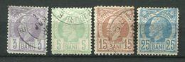 Roumanie Ob N° 58 à 61 - 1858-1880 Moldavia & Principality