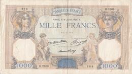 BILLETE DE FRANCIA DE 1000 FRANCS DEL 16-7-1936  (BANKNOTE) - 1871-1952 Circulated During XXth