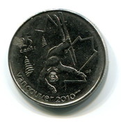 2008 Canada Vancouver Winter Olympics Commorative 25 Cent  Coin - Canada