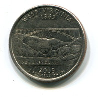 2005 USA West Virginia 25 Cent  Coin - 1999-2009: State Quarters
