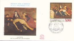 FRANCE FDC DU 10 DECEMBRE 1988 VILLENEUVE LES AVIGNON LA PIETA - FDC