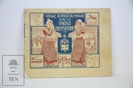 Old Trading Card Folder - Cacao Bensdorp Advertising - Voyage Autor Du Monde - Naples, Milan - Chocolate