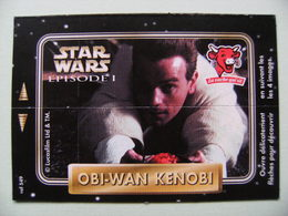 """Carte Publicitaire La Vache Qui Rit - STAR WARS - Episode 1 """"OBI-WAN KENOBI"""" 4 Images Lucasfilm   A Voir ! - Other Collections"""