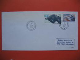 TAAF Lettre Alfred -Faure Crozet  Pour La France N° 88 Et 89 Du 1/1/1981 - Briefe U. Dokumente