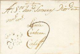 Sobre 1791. BERVER (HUESCA) A CALAF (TARRAGONA). Marca ARA / GON, En Tinta De Escribir En Tránsito En Fraga (P.E.1) Edic - Spain