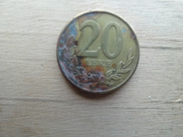 Albanie  20  Leke  2012  Km !!! - Albanie