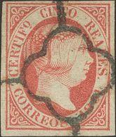 º 5 Reales Rosa. MAGNIFICO. Cert. COMEX. (Edifil 2018: 375€) - Spain