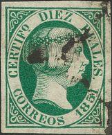º 10 Reales Verde. Color Intenso Y Márgenes Enormes. MAGNIFICO. Cert. COMEX. (Edifil 2018: 720€) - Spain