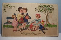 BONNE  ANNEE   ---  ENFANT  -  Jouets - Polichinelle  ( Petit Format 110 X 65 ) - Nouvel An
