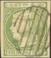 º 5 Reales Verde. Enormes Márgenes Y Matasello Muy Limpio. PIEZA DE LUJO. (Edifil 2018: 180€) - Spain