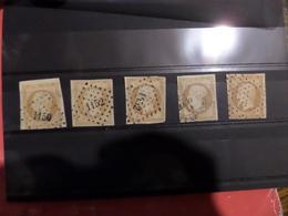 25.01.18_lot De 13 TI Et TII,PC 1150,1152,1452 (Evran) Et Etoile ,un Cachet Sur Timbre,1er Choix!! - 1853-1860 Napoleon III