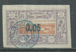 Côte Des Somalis  N° 23 O  Timbre Surchargé :0.05 Sur 75 C., Belle Oblitération, TB - Oblitérés