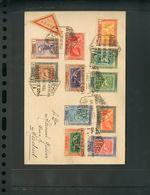 Sobre 1930. Espectacular Conjunto De Catorce Cartas Filatélicas Franqueadas Con Sellos De Las Emisiones De Goya De 1930, - Spagna