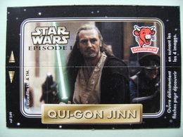 """Carte Publicitaire La Vache Qui Rit - STAR WARS - Episode 1 """"QUI-GON JINN"""" 4 Images Lucasfilm   A Voir ! - Other Collections"""