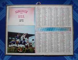 CALENDRIER - Almanach Des  P.T.T 1972 - RUGBY -  LA TOUCHE  - Dpt 66 - Calendriers