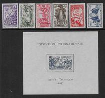 GUADELOUPE -   N° 133 à 138 *  + Bloc N°1 * - Cote : 22 € - Guadeloupe (1884-1947)
