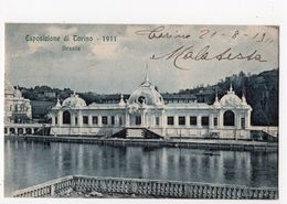 9 - TORINO  -  Esposizione - 1911 -  Padiglione Brasile - Expositions