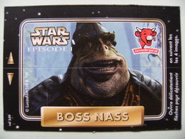 """Carte Publicitaire La Vache Qui Rit - STAR WARS - Episode 1 """"BOSS NASS"""" 4 Images Lucasfilm   A Voir ! - Sonstige"""