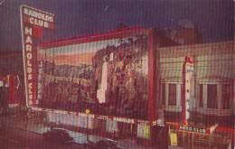 Nevada Reno Harold's Club Sign At Night