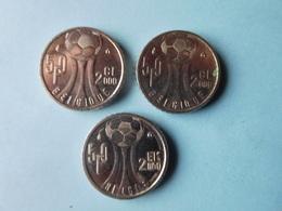 3x 50 Fr. Euro 2000 Belgique - 1993-...: Albert II