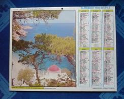 CALENDRIER - Almanach Des P.T.T 1986 -  GRECE KARPATHOS Et  Lac De THUN  - Dpt 66 - Big : 1981-90