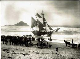 PHOTOGRAPHIE Du PHOTOGRAPHE  GIPSON à SCILLY-ISLES - Photo Naufrage Du Voilier Dans La Baie 1888 à Identifier VOIR SCANS - Scilly Isles