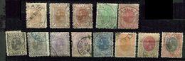 Roumanie *  N° 124 à 136 - Sans Filigrane - Used Stamps