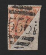 GOLD COAST 1884 6d DISECT CAPE COAST CASTLE - Stamps