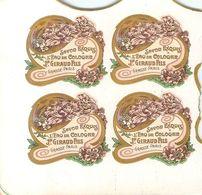 Lot De 8 Etiquettes à Découper Parfum Savon Exquis à L'Eau De Cologne J. Giraud Fils GRASSE-PARIS - Labels