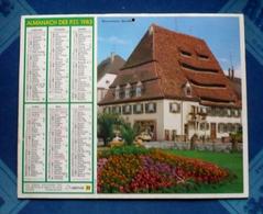 CALENDRIER Dpt 66 - Almanach Des P.T.T 1983 - WISSEMBOURG (BAS-RHIN) - Big : 1981-90