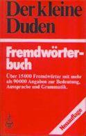 « Der Kleine Duden – Fremdwörterbuch » - Dudenverlag, Mannheim (1983) - Wörterbücher