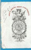 (B005) Belgique - Ets D. VANDERHAEGHEN Gand - 24/12/1912 - Textile & Vestimentaire