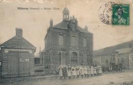 H25 - 80 - VILLEROY - Somme - Mairie - École - France