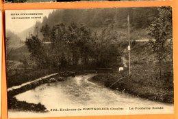 A121, Environs De Pontarlier, La Fontaine Ronde, 995, Circulée Sous Enveloppe - Pontarlier