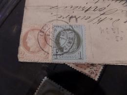 25.01.18_ LSC,n°50  Rare Variété Et N°51,,,voir Oblitération Verso! - Postmark Collection (Covers)