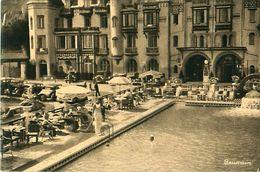 Cpa POURVILLE SUR MER 76 Piscine - Grand Hôtel - France