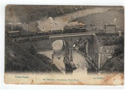 Trois-Ponts   -  Le Viaduc  1911 (avec Train à Vapeur) - Trois-Ponts