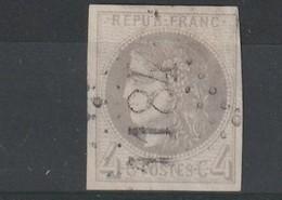 France 41B Oblitéré Premier Choix Signé Aimé Brun Gros Chiffre 1184 - 1870 Bordeaux Printing