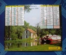 CALENDRIER Dpt 77 -SEINE ET MARNE -  Almanach Du Facteur 1994  LA POSTE - PENICHE - Paysage D'automne - Big : 1981-90