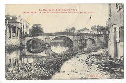 GERBEVILLER  (cpa 54) Le Pont Sur La Mortagne Défendu Héroiquement Par Les Français - Guerre 1914 -    - L 1 - Gerbeviller