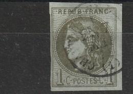 France 39B Oblitéré Premier Choix Signé Aimé Brun - 1870 Bordeaux Printing