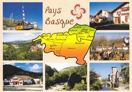 PAYS BASQUE FRANCAIS ET ESPAGNOL - CARTE GEOGRAPHIQUE AVEC MULTIVUES - Carte Geografiche