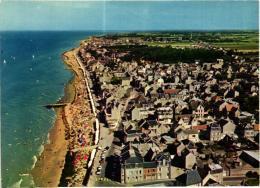SAINT AUBIN SUR MER ,VUE GENERALE DE LA PLAGE BEAU PLAN AERIEN  REF 54983 - Saint Aubin