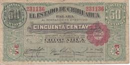 BILLETE DE MEXICO DE 50 CENTAVOS DEL AÑO 1914  CHIHUAHUA (BANKNOTE) - Mexico