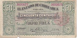 BILLETE DE MEXICO DE 50 CENTAVOS DEL AÑO 1914  CHIHUAHUA (BANKNOTE) - México