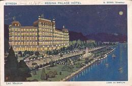 REGINA PALACE HOTEL. STRESSA. LIGNE DU SIMPLON. LAC MAJEUR.TBE-BLEUP - Hotel's & Restaurants