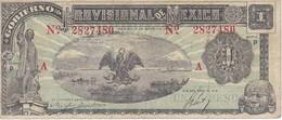 BILLETE DE MEXICO DE 1 PESO DEL AÑO 1916 - A  -GOBIERNO PROVISIONAL (BANKNOTE) - México