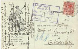 CARTE POSTALE 1926 AVEC ILLUSTRATION THEME CHASSE - Briefmarken